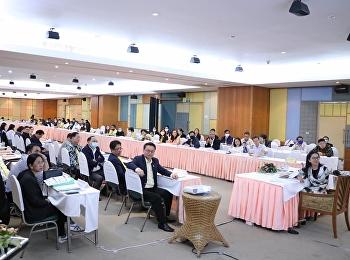 วันที่ 13 กรกฎาคม 2563 รศ.ดร.วิทยา เมฆขำ รักษาราชการแทนรองอธิการบดีฝ่ายแผนงานและประกันคุณภาพ พร้อมด้วยคณะผู้บริหาร  เข้าร่วมโครงการประชุมคณะกรรมการบริหารมหาวิทยาลัยราชภัฏสวนสุนันทา(สัญจร) และการกำหนดทิศทางพัฒนามหาวิทยาลัย