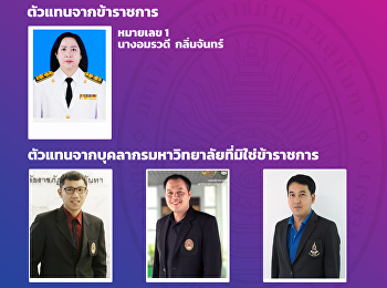 Announcement of the list of applicants elected to be elected as university administrators from representatives of government officials and representatives of non-governmental personnel
