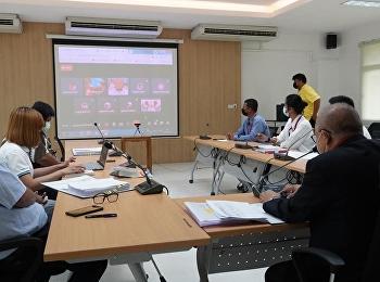 การประชุมคณะกรรมการตรวจรับงานโครงการก่อสร้างอาคารเรียนรวมและปฏิบัติการ ศูนย์การศึกษาจังหวัดระนอง มหาวิทยาลัยราชภัฏสวนสุนันทา ครั้งที่ 9/2564